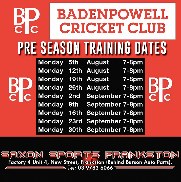 Preseason Training Dates